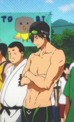 Makoto Tachibana--The guy next to him looks a bit jealous