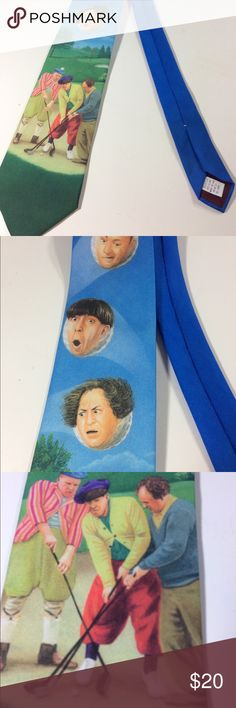 """Three Stooges Golf Necktie 3.5 x 56"""" Great tie for a golfer!   Funny three stooges necktie  Excellent condition  Measures approximately 3.5"""" x 56 100% Polyester  Thanks for looking! Accessories Ties"""
