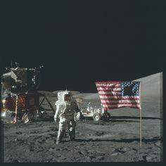 Apollo 17 Hasselblad image from film magazine 134/B - EVA-1 & 3