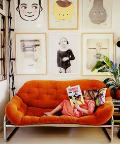 perfect sofa. perfect way to spend a rainy afternoon. photo by jenny brandt