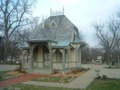 This playhouse was built for Lucy J. Haskell when she was 5 years old. It is believed that her grandfather, John E. Hayner, commissioned prominent local architect, Lucas J. Pfeiffenberger, to design the Queen Anne style playhouse. In 1889, at age nine, Lucy died of diphtheria. When Lucys mother died in 1932, her family left the estate to the City of Alton for educational and recreational purposes. The playhouse was retained in memory of Lucy.