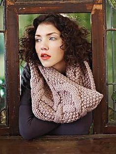 This chunky cowl has a fresh, contemporary style thanks to those big cables and moss stitch fabric Rowan Felted Tweed, Big Wool, Rowan Yarn, Moss Stitch, Wearing A Hat, Knit Cowl, Embroidery Fabric, Book Crafts, Wool Yarn