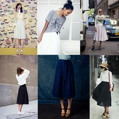Women& midi skirt pattern - Easy to sew How To Do Yoga, Jean Outfits, Midi Skirt, High Waisted Skirt, Sewing, Skirts, Pants, Sew Pattern, Pattern Skirt
