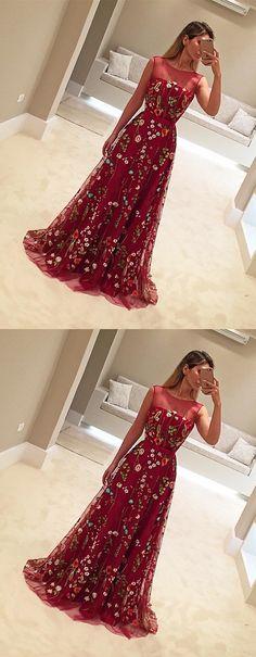 long prom dresses,unique prom dresses,red prom dresses,flower prom dresses,tulle prom dresses,2017 prom dresses @simpledress2480