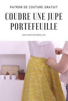 Coudre une jupe portefeuille / patron de couture gratuit jupe / Sewing patterns