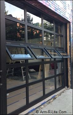 Overhead Door with Crank Out Windows by Arm-R-Lite