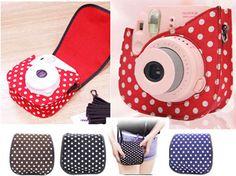 Dot pattern Camera Case Bag For Fuji Fujifilm Instax Mini