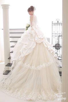 Say hello to the perfect princess white gown that radiates beauty!