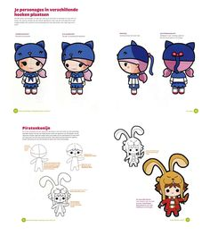 Kawaii tekenen - zelf super schattige manga figuurtjes leren tekenen | Moodkids
