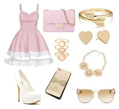 """""""Pink & Gold """" by maddysfashionx on Polyvore featuring Michael Antonio, Design Inverso, Monsoon, Bling Jewelry, Kate Spade and Michael Kors"""