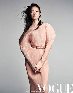 China's actor and model Fei Fei Sun is styled by Daniela Paudice in 'Pleats Please', lensed by Patrick Demarchelier for Vogue China March Hair by Ward Stegerhoek; Fei Fei Sun, Patrick Demarchelier, Vogue China, Trendy Fashion, Fashion Models, High Fashion, Models Style, India Fashion, Christy Turlington