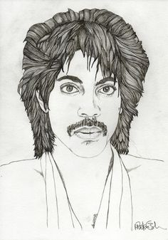 PRINCE  ORIGINAL Pencil Drawing Art by ExpeditionaryClub on Etsy, $50.00