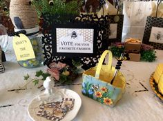 Vote for favorite fashion (best dressed) was one of three My Favorite Things contests for bee and honey themed prizes.