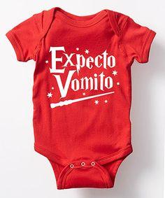 Look what I found on #zulily! red 'Expecto Vomito' Bodysuit #zulilyfinds