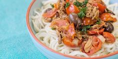 Paleo 'spaghetti' al tonno - met tonijn (Paleo, glutenvrij, suikervrij, zuivelvrij)