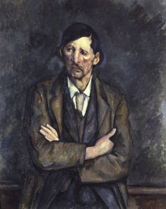 Man with Crossed Arms - Paul Cezanne, 1899 French, 1839-1906