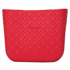 limited edition - O bag mini body - quilted with studs - red