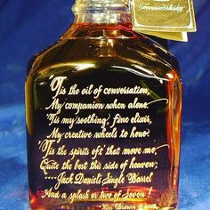 Ken composed the verse for one of his frequent customers who loves Jack Daniels Single Barrel.  It was his gift to her for the business she brings for her own gifts of wine and spirits. #marketstreet #giftideas #gift #calligraphy