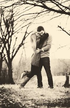 Engagement photo... probably too hard to reenact but still adorable!