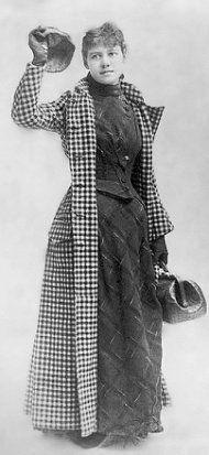Nellie Bly en 1889 antes de dar la vuelta al mundo en 72 días (Library of Congress)