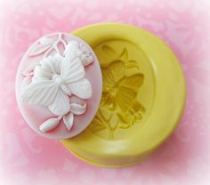 Butterfly Cameo Mold Christmas Frame Silicone Flexible Clay Resin Mould