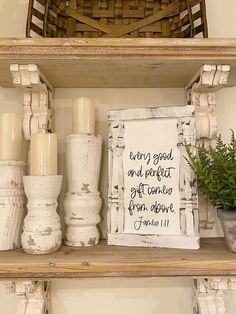 Every good and perfect gift comes from above James spindle sign, shabby chic sign, PRE ORDER, Homemade Frames, Shabby Chic Signs, Modern Farmhouse Bedroom, Cricut Craft Room, Painted Letters, Recycled Furniture, Farmhouse Signs, Diy Home Crafts, French Country Decorating