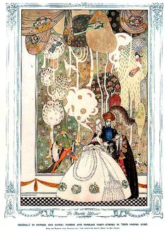 Kay Nielsen (Danish illustrator, - La Barbe Bleue [Bluebeard] via aliform, 1913 Kay Nielsen, Art And Illustration, Fairy Tale Illustrations, Illustrator, Fairytale Art, Art Graphique, Graphic, Art Nouveau, Fantasy Art