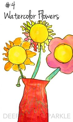 Watercolor Flowers:The years best art projects for 2014-15 from Deep Space Sparkle
