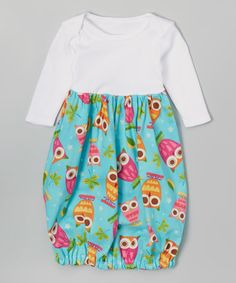 Another great find on #zulily! Teal Owl Gown #zulilyfinds