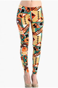 See related links to what you are looking for. Aztec Leggings, Printed Leggings, All Things Fabulous, Pajama Pants, Cute Outfits, Mint, Orange, Clothes, Inspiration