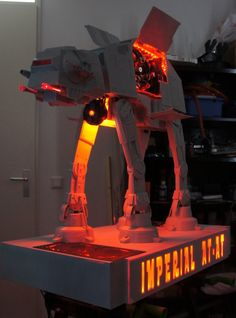 Buy Star Wars Imperial AT-AT Walker Custom Computer case at Wish - Shopping Made Fun Computer Build, Gaming Computer, Computer Setup, Computer Programming, Gaming Setup, Pc Cases, Pretty Cool, How To Look Pretty, Star Wars Pc
