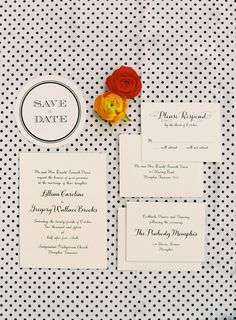 Black and white wedding invitations // Photo by Odalys Mendez Photography