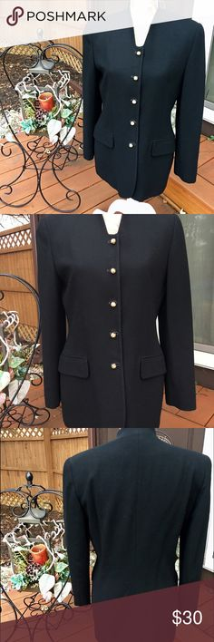 🎉SALE🎉SAVILLE VTG BLACK SUIT JACKET/BLAZER 6 🎉CYBER MONDAY SALE🎉SAVILLE SUIT VINTAGE WOMEN'S JACKET/BLAZER SIZE 6 WITH NICE GOLD BRAIDED DESIGN BUTTONS DOWN THE FRONT AND 2 FRONT POCKETS. MADE OF 70% WORSTED WOOL 30% ACETATE. SAVILLE Jackets & Coats Blazers