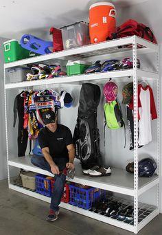 SafeRacks - Sports Equipment Organizer   2'D x 8'W x 7'H