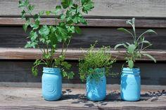 Paint herb planters