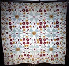 Whig Rose variation.  dated 1879.  Approx 79 inches square.