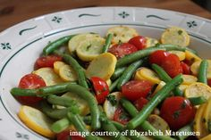 Summer Squash and Green Beans Saute. Potential side for fish