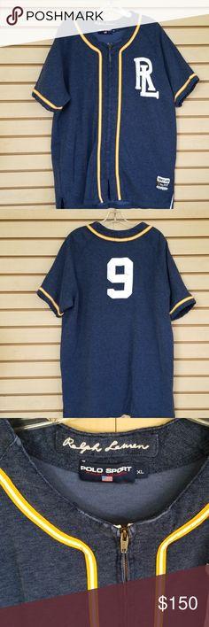 96b1340f3a2 Ralph Lauren polo sport Vintage (rare) Ralph Lauren polo baseball style  Jersey 1967 original