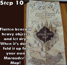 Harry Potter Paraphernalia: Marauder's Map: Inside and Outside