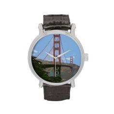 #Golden gate bridge San Francisco #Uhren #JAMFotoWorms #Zazzle.com oder #Zazzle.de