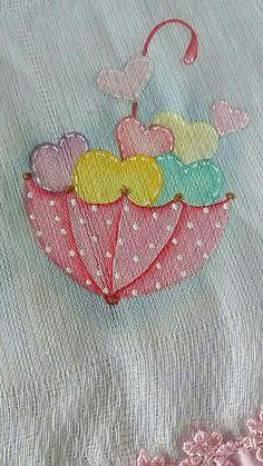 Pintura by Prika Reis Artesanato. Applique Patterns, Applique Designs, Quilting Designs, Quilt Patterns, Embroidery Designs, Baby Embroidery, Machine Embroidery, Paint Designs, Baby Sewing