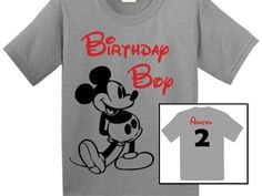 Mickey Mouse Birthday Shirt by Littlebitofcharacter on Etsy https://www.etsy.com/listing/225512755/mickey-mouse-birthday-shirt