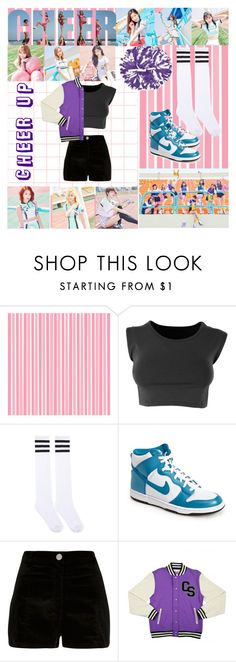 """""""Twice- Cheer Up"""" by ninaxo17 ❤ liked on Polyvore featuring NIKE and River Island"""