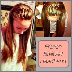 French Braided Headband | Hair and Beauty Tutorials