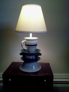 Bowl, Saucers, and Coffee mug Lamp