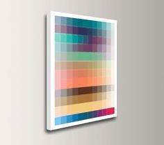 "Canvas Art - Large Wall Art on Canvas - Colorful Modern Wall Decor - Geometric Print - ""Swatch"""