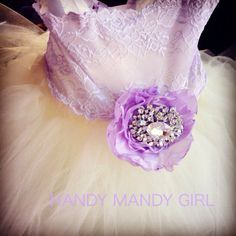 Etsy purple lilac dress periwinkle  Lace brooch flower girl tutu dress
