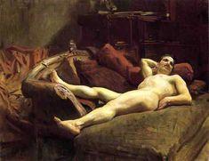 "Hottest Male Nude in Art History, ""Male Model Resting"" by John Singer Sargent? John Singer Sargent, Sargent Art, Beauty In Art, Male Beauty, Norman Rockwell, Gustav Klimt, Monet, Beaux Arts Paris, Oil Canvas"