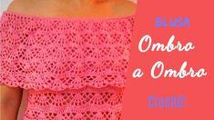 Blusa Ombro a Ombro   ♥  Pala em Crochê ♥ Como fazer a pala fácil!