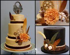 Steam punk wedding cake #steampunk steam punk hat top hat | Blue Note Bakery - Austin, Texas